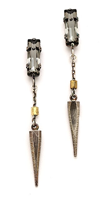Bing Bang Baguette Crystal Spike Drop Earrings