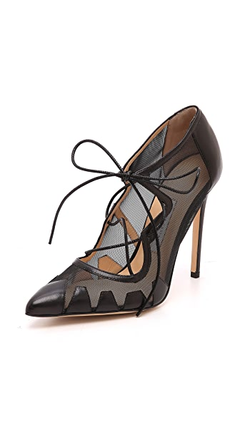 Bionda Castana Dekota Mesh Lace up Pumps