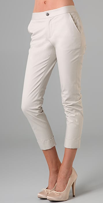 Bird by Juicy Couture Cuffed Cotton Pants