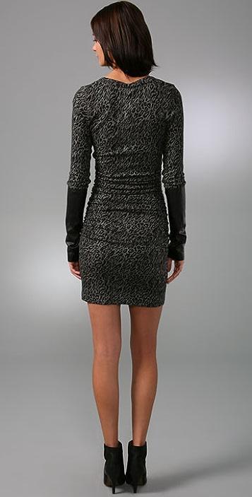 Black Halo Holly Leopard Mini Dress