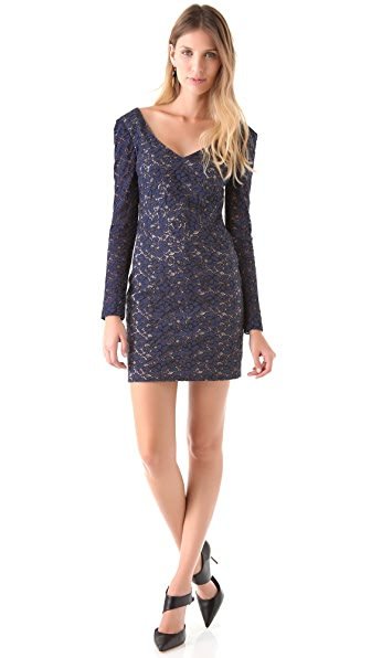 Black Halo Lace Feleti Mini Dress