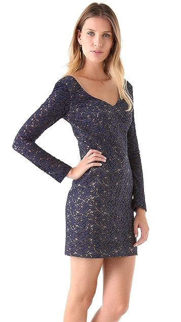 Black Halo Lace Feleti Mini Dress
