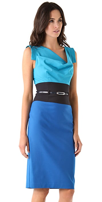 Black Halo Colorblock Dress