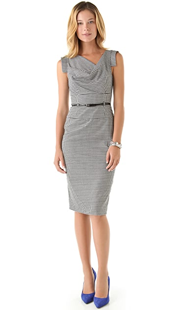 Black Halo Jackie O Houndstooth Dress