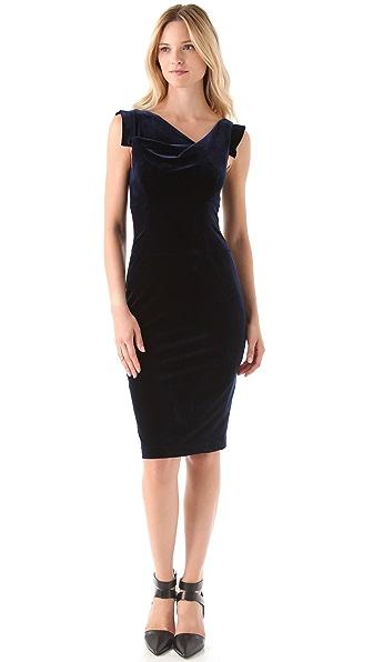Black Halo Velvet Jackie O Dress