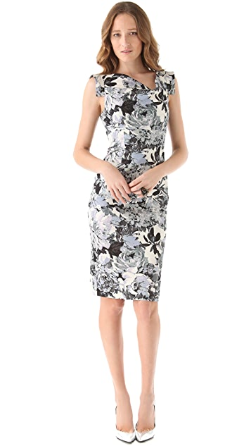 Black Halo Jackie O Printed Dress