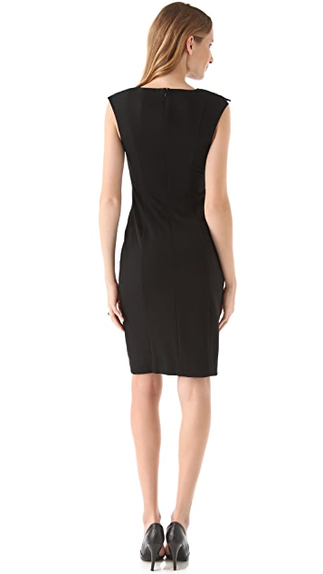 Black Halo Heston Colorblocked Dress