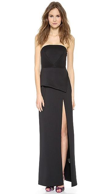 Black Halo Raquel Strapless Gown