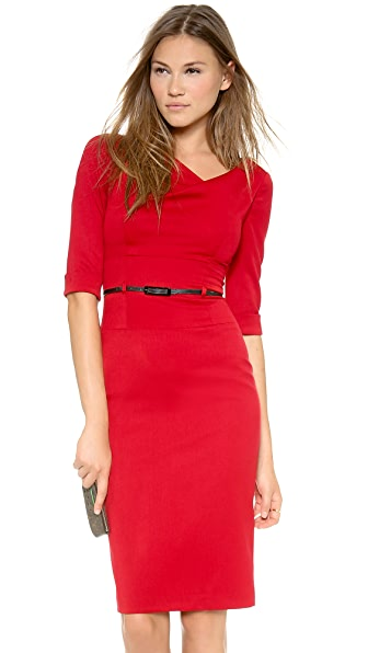 Black Halo 3/4 Sleeve Jackie O Dress