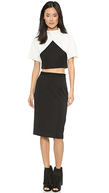 Black Halo Donelly Two Piece Sheath Dress