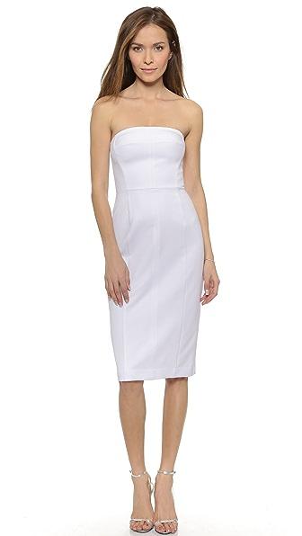 Shop Black Halo online and buy Black Halo Olsen Strapless Sheath Dress White online store