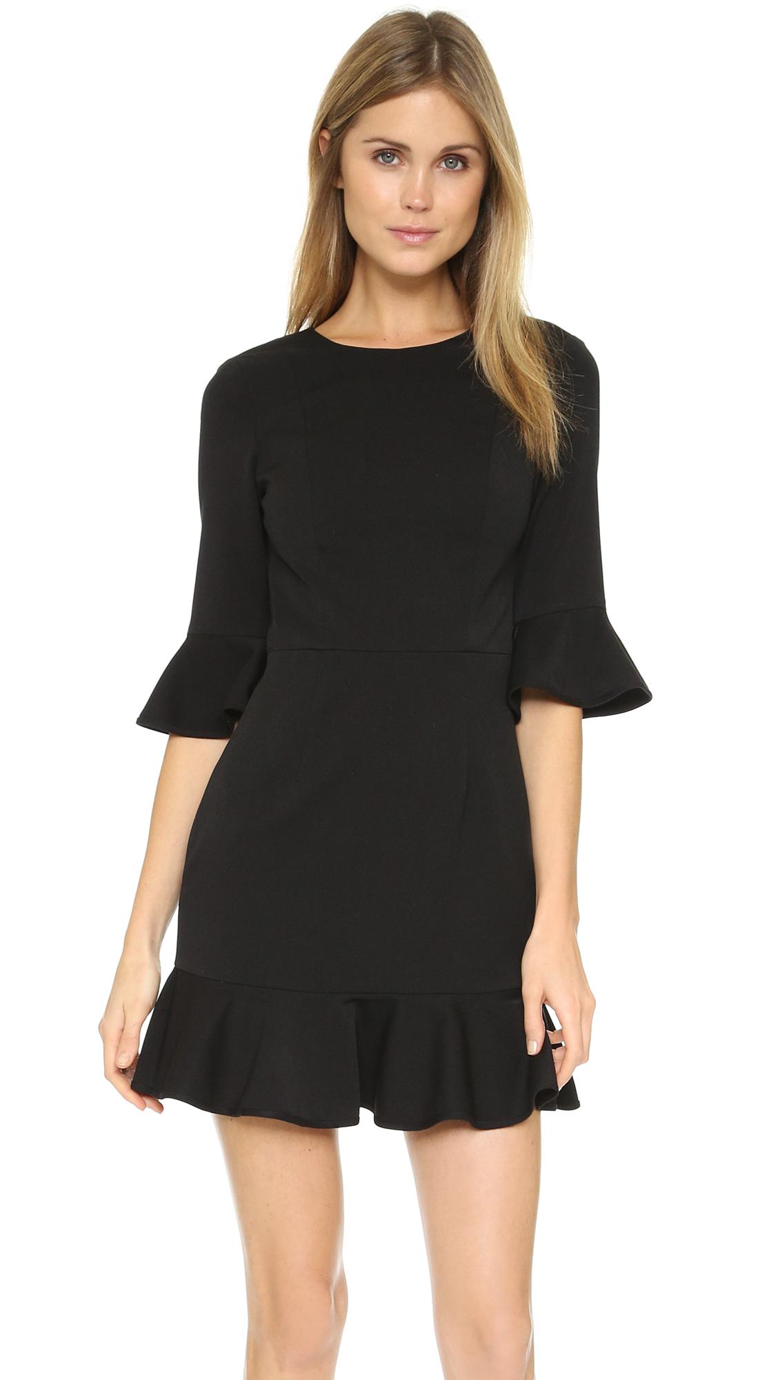 Black halo black dress