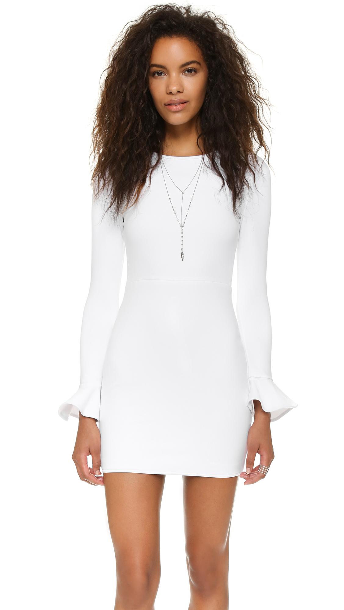 Black Halo Hampton Dress - White