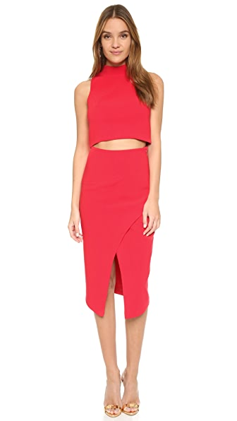 Black Halo Juma 2 Piece Dress - Chic Red