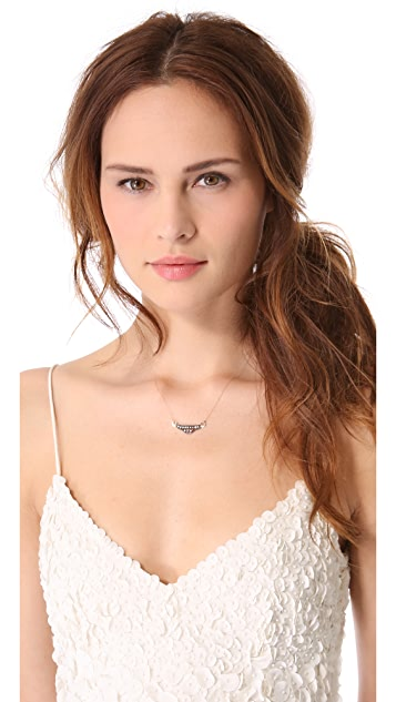 blanca monros gomez White Diamond Filigree Necklace