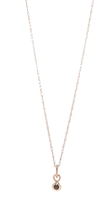 blanca monros gomez Black Diamond Seed Necklace