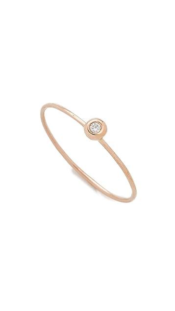 blanca monros gomez 14k Gold White Diamond Seed Ring