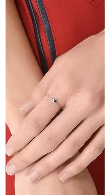 blanca monros gomez 14k Gold Sapphire Seed Ring