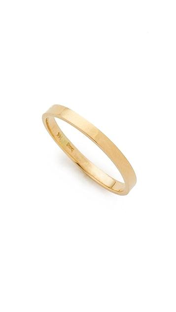 blanca monros gomez 14k Gold Flat Band Ring