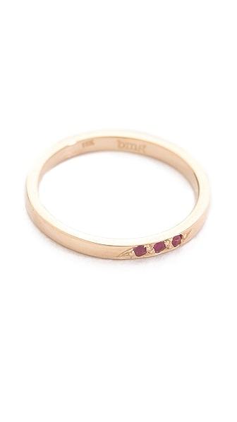 blanca monros gomez Dainty Ruby Topper Ring