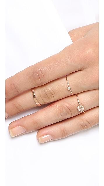 blanca monros gomez Diamond Medium Rosette Stacking Ring