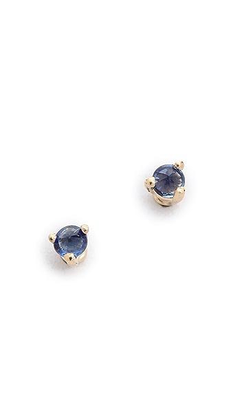 blanca monros gomez Tiny Sapphire Stud Earrings