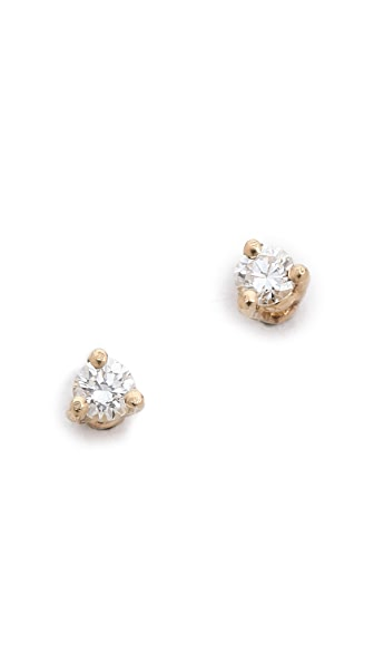 blanca monros gomez White Diamond Stud Earrings