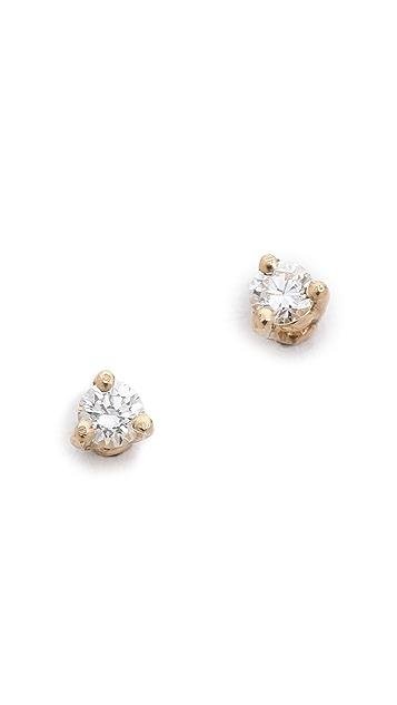 blanca monros gomez White Diamond Stud Earrings