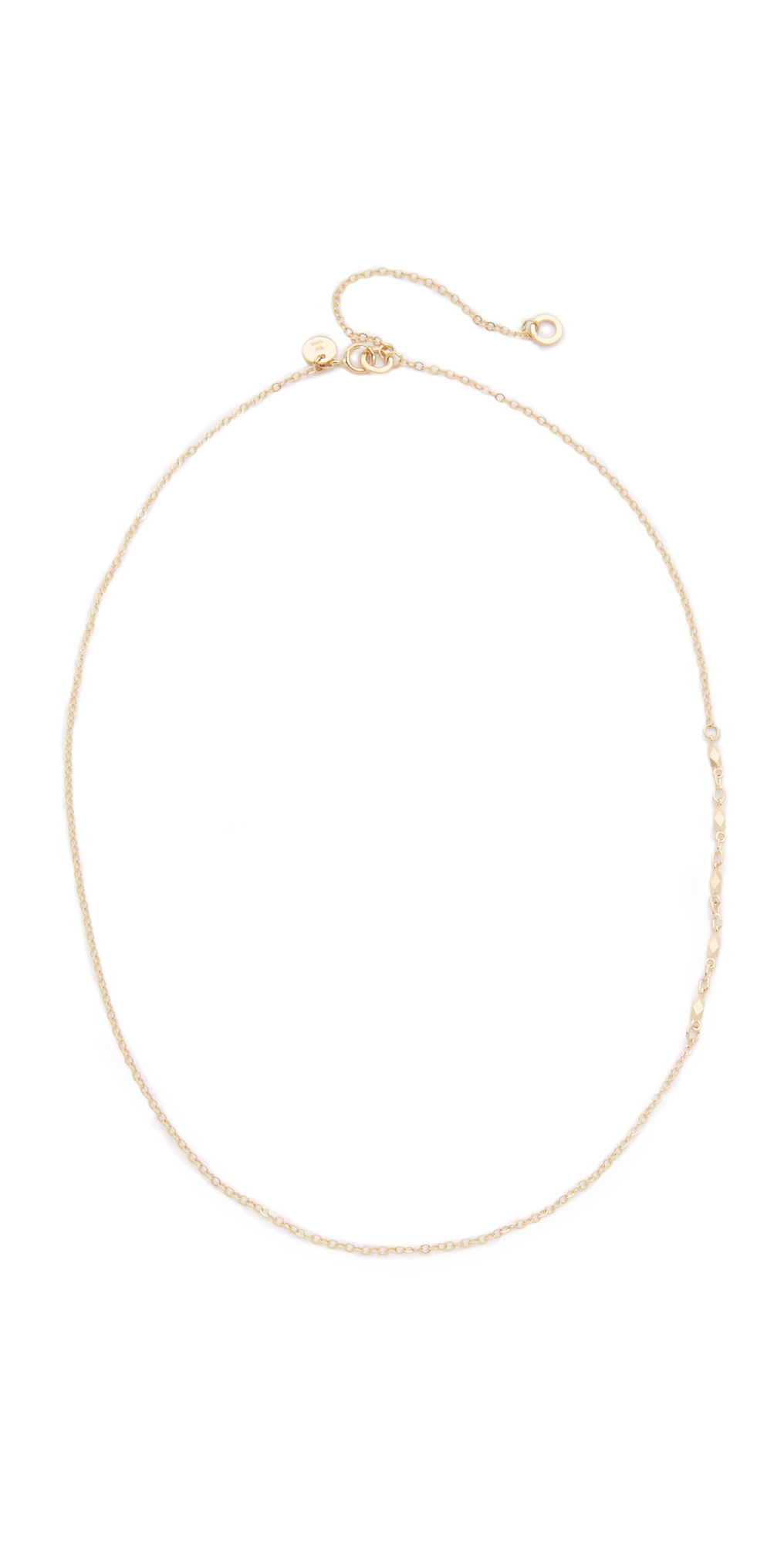 14k Gold Chain Lavalier Necklace blanca monros gomez
