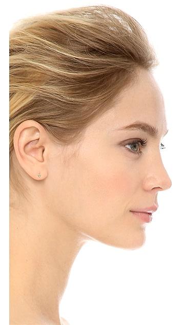 blanca monros gomez Asymmetrical Seed Stud Earrings