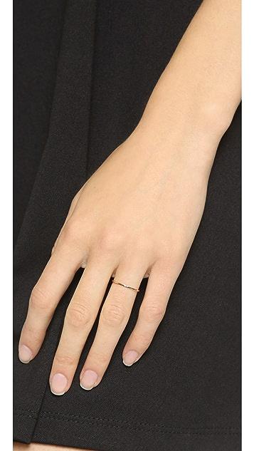 blanca monros gomez 14k Gold Thin Stacking Band Ring
