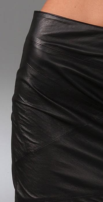 Blank Denim Leather Skirt