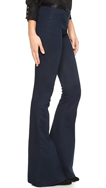 Blank Denim Pull On Flare Jeans