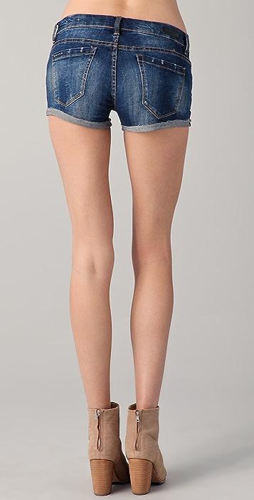 Blank Denim Fitted Cutoff Shorts