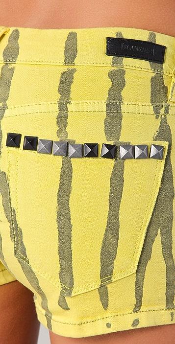 Blank Denim Studded Paint Stripe Shorts
