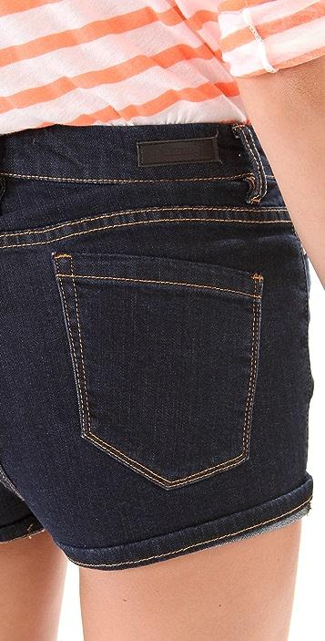 Blank Denim High Rise Cuffed Shorts