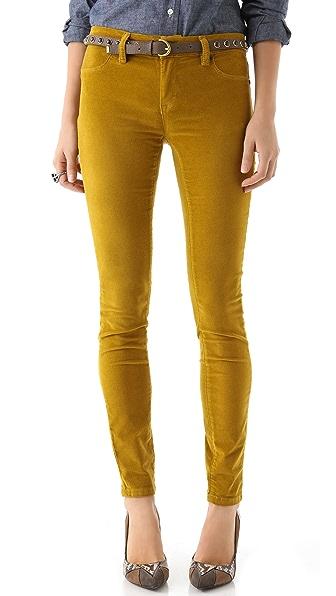 Blank Denim Velour Skinny Pants