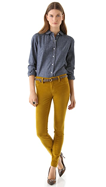 Blank Denim Velour Skinny Pants