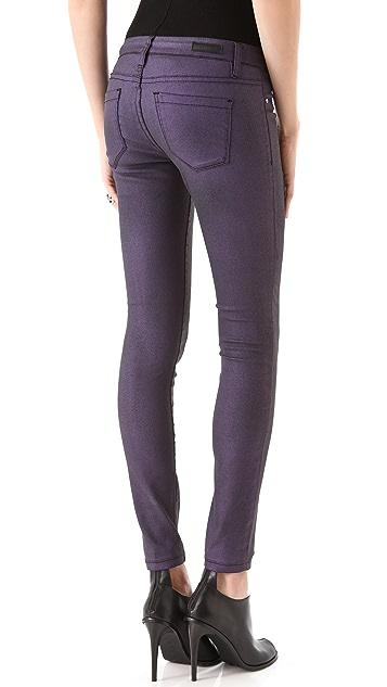 Blank Denim Spray On Metallic Skinny Jeans
