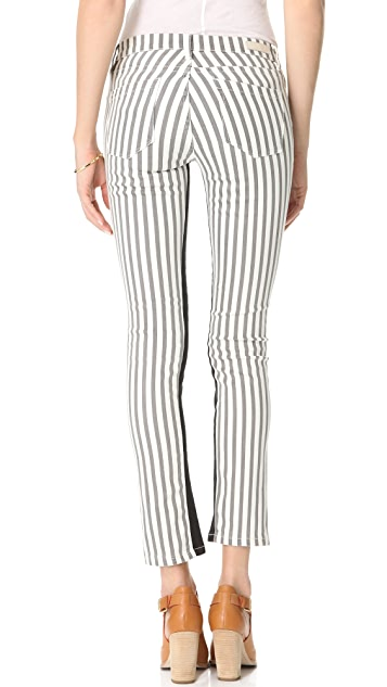 Blank Denim Striped Skinny Jeans