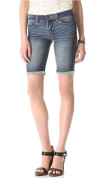 Blank Denim Biker Shorts