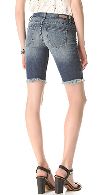 Blank Denim Biker Shorts