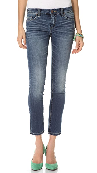 Blank Denim Distressed Cigarette Skinny Jeans