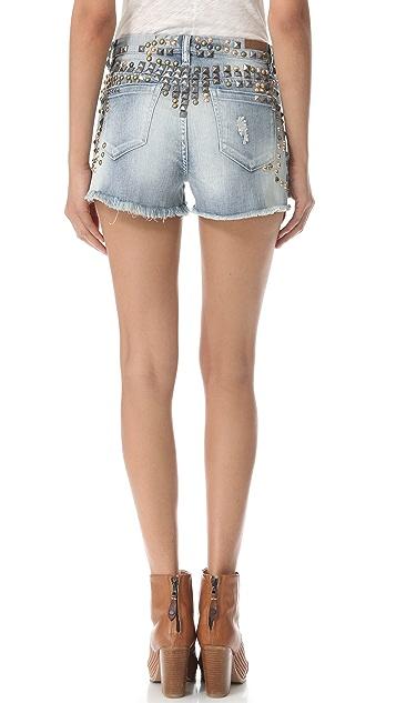 Blank Denim High Rise Cutoff Shorts