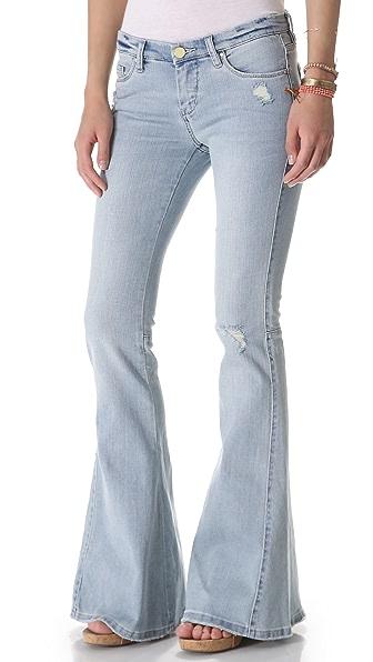 Blank Denim Distressed Bell Bottom Jeans
