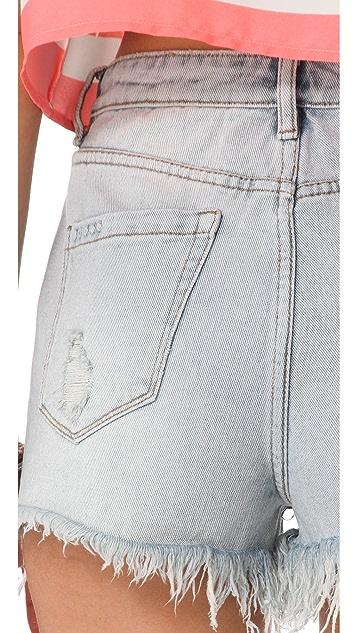 Blank Denim Distressed High Rise Cutoff Shorts