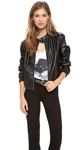 Blank Denim Vegan Bomber Jacket
