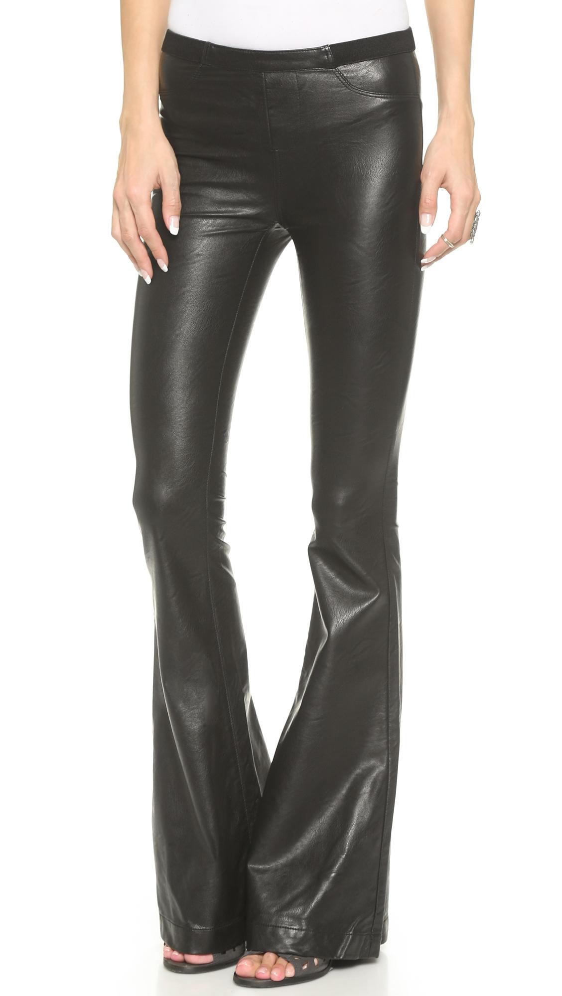 edbdb6ebc6caab Blank Denim Faux Leather Flare Pants   SHOPBOP