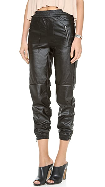 Blank Denim Vegan Leather Sweapants