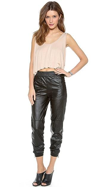 Blank Denim Vegan Leather Sweapants